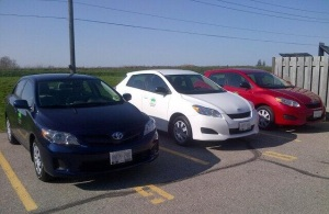 The Guelph Community CarShare Fleet (via @CarShareCoop)